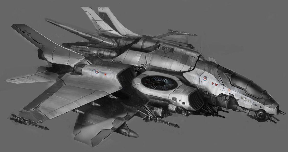 Multiwinged VTOL fighter. | Naves espaciais, Espaçonaves ...