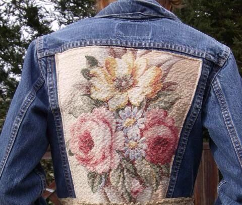 Make it yourself with an older jeans jacket