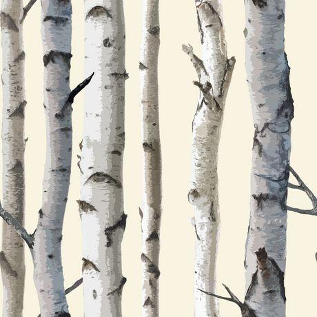 Birch Tree Wallpaper Walmart Ca Birch Tree Wallpaper Tree Wallpaper Grey Birch Tree