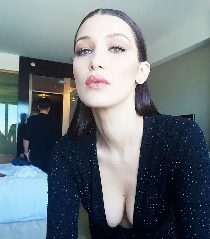 Exclusive: Getting Ready With Bella Hadid for the Grammys via @ByrdieBeauty