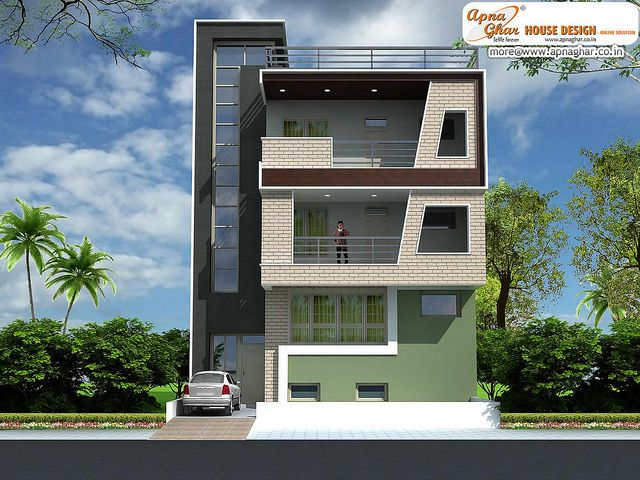 Triplex House Design House Front Design Small House Elevation Design Front Elevation Designs