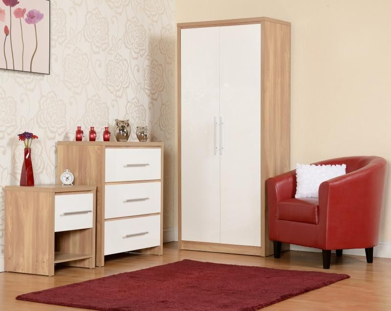 Seville White Bedroom Set | шкаф | Oak bedroom furniture ...