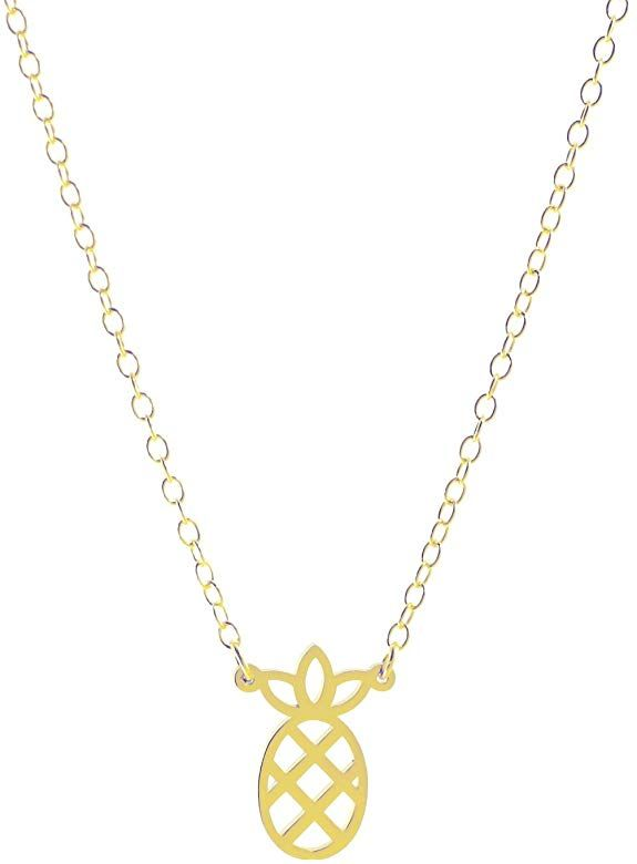 Deidreamers Sterling Silver Pineapple Necklace