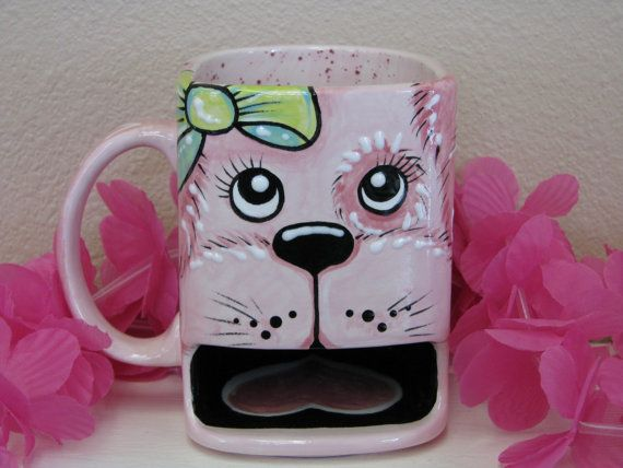 Hey, I found this really awesome Etsy listing at http://www.etsy.com/listing/164111636/a-puppy-dog-with-bow-ceramic-cookie-dunk