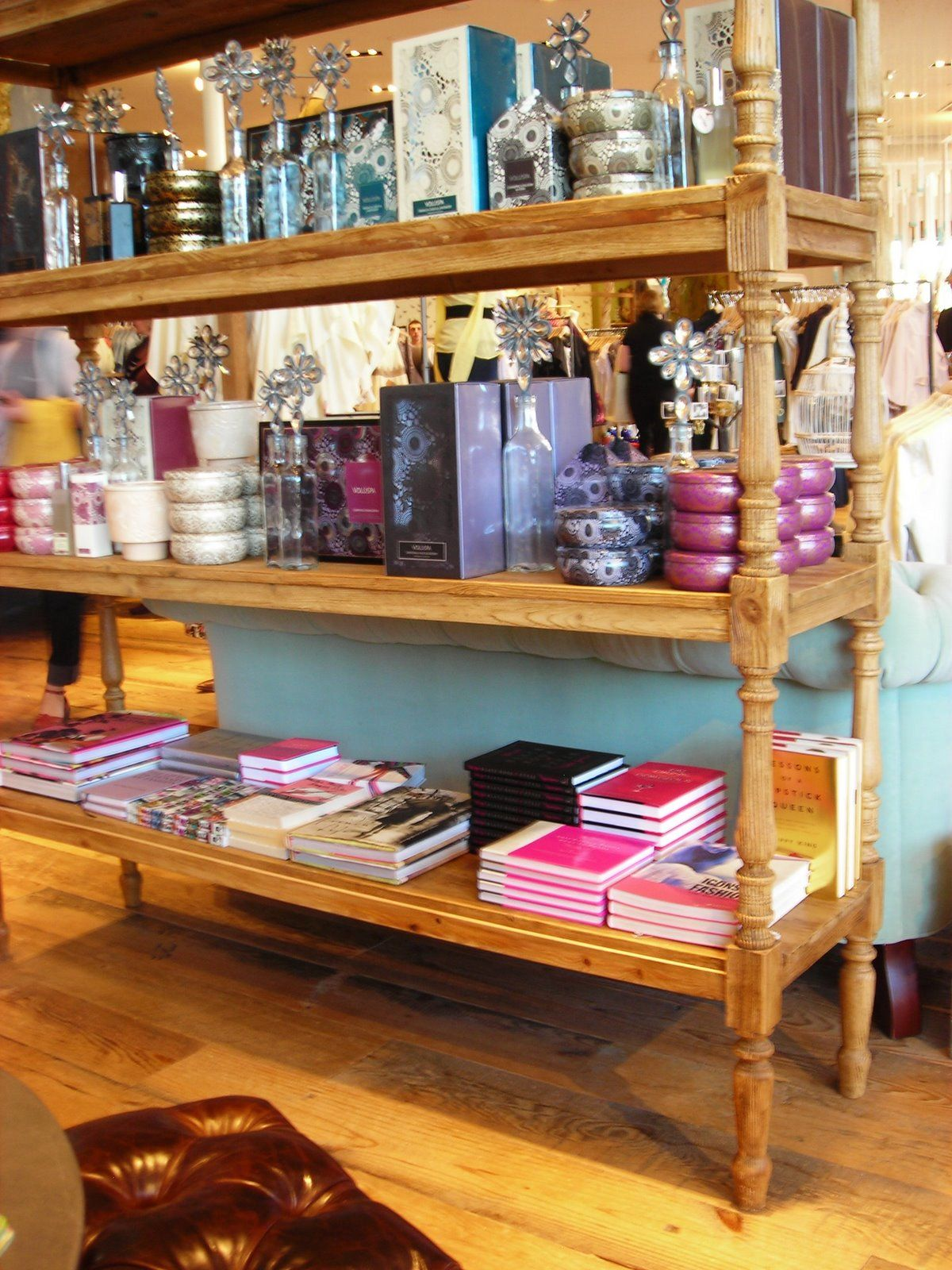 Anthropologie via the art of style. I like the display table.