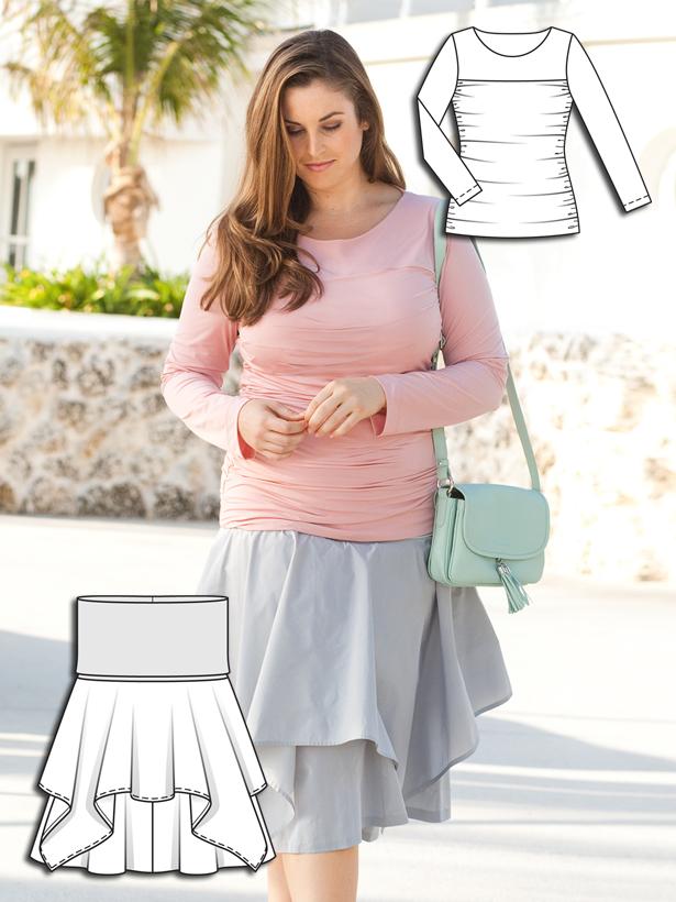 Pastel Spring: 6 New Plus Size Sewing Patterns | Nähen ...