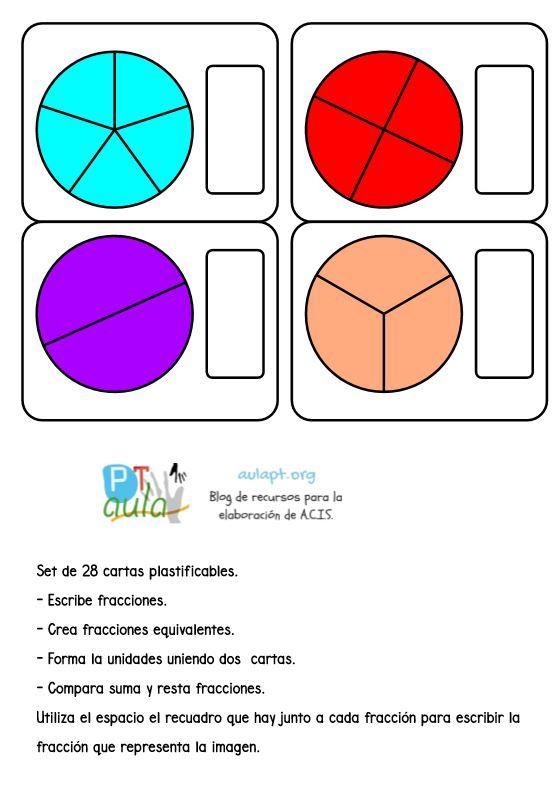 Pin de Cristina Sénica en Frações   Pinterest   Las fracciones ...