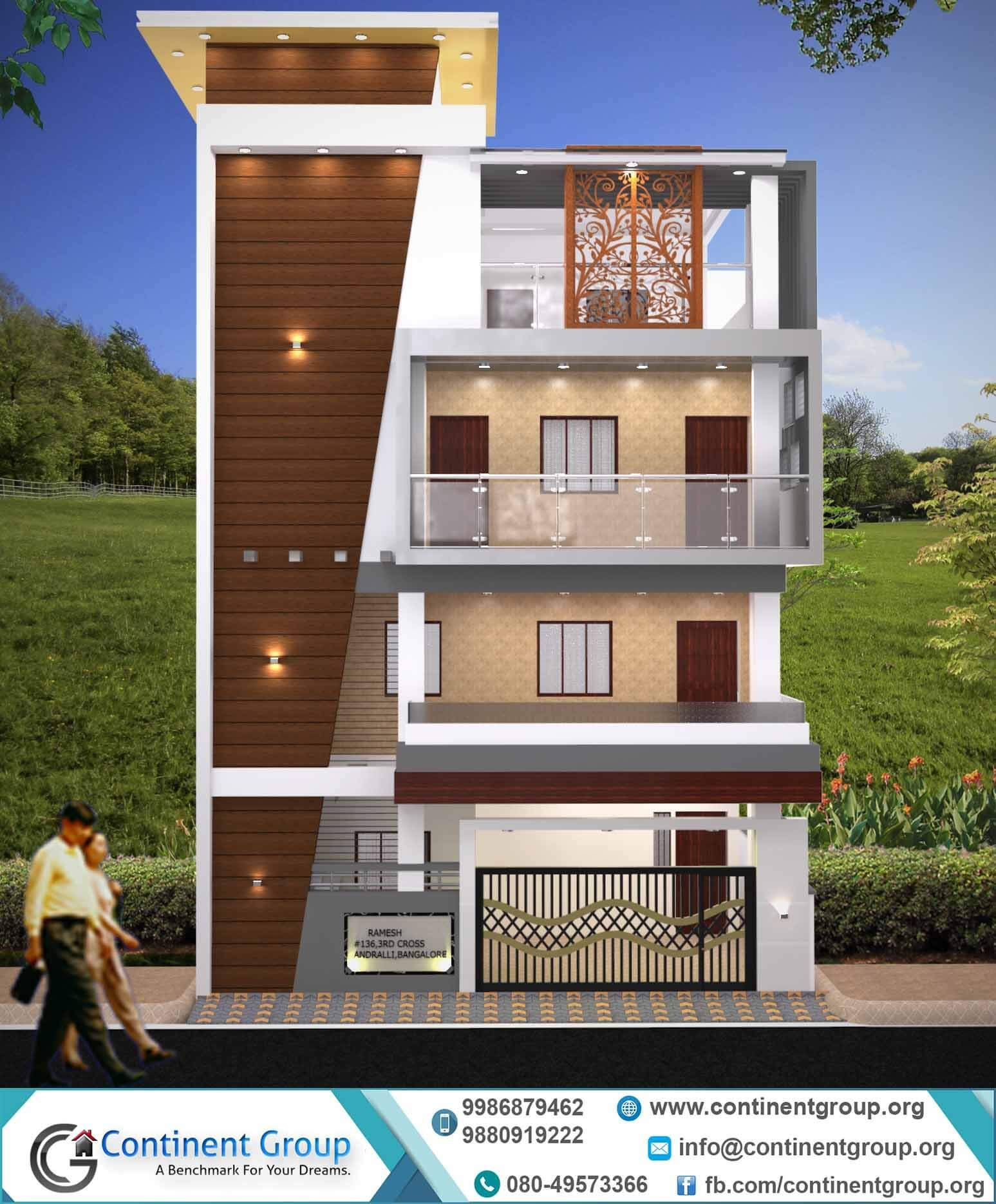 Home Front Elevation For 3 Floors : D front elevation design building