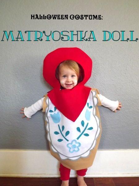 Matryoshka Doll Costume from Petitjoy.com! #diy #halloween #dollcostume