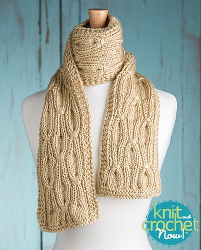 Free Smocked Rib Scarf Knit Pattern Download Designed By Kcn