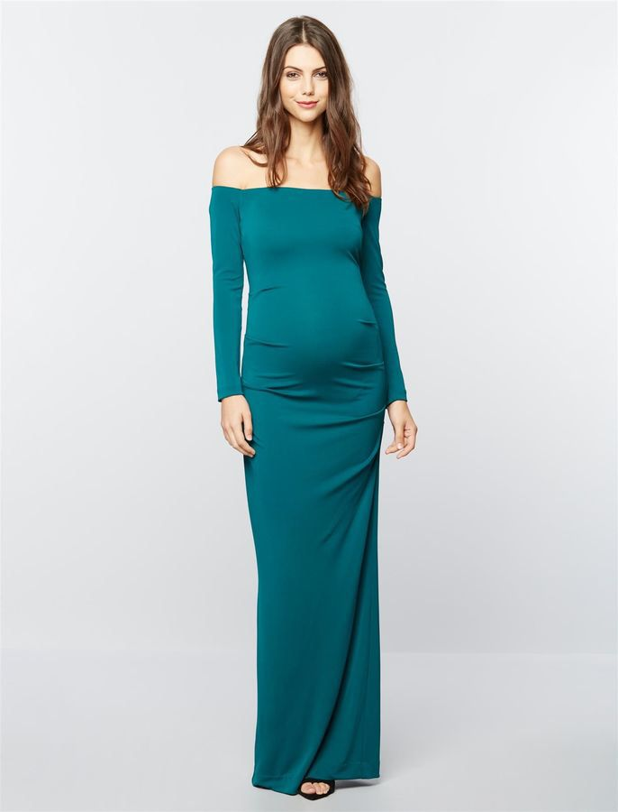 Pea Collection Nicole Miller Maternity Special Occasion Dress ...