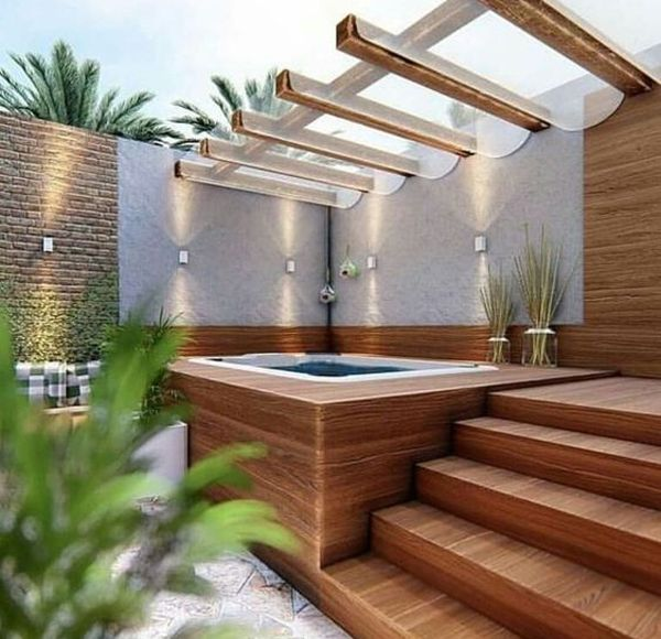 35 Cozy Outdoor Hot Tub Cover Ideas You Can Try Hot Tub Backyard Hot Tub Garden Hot Tub Landscaping