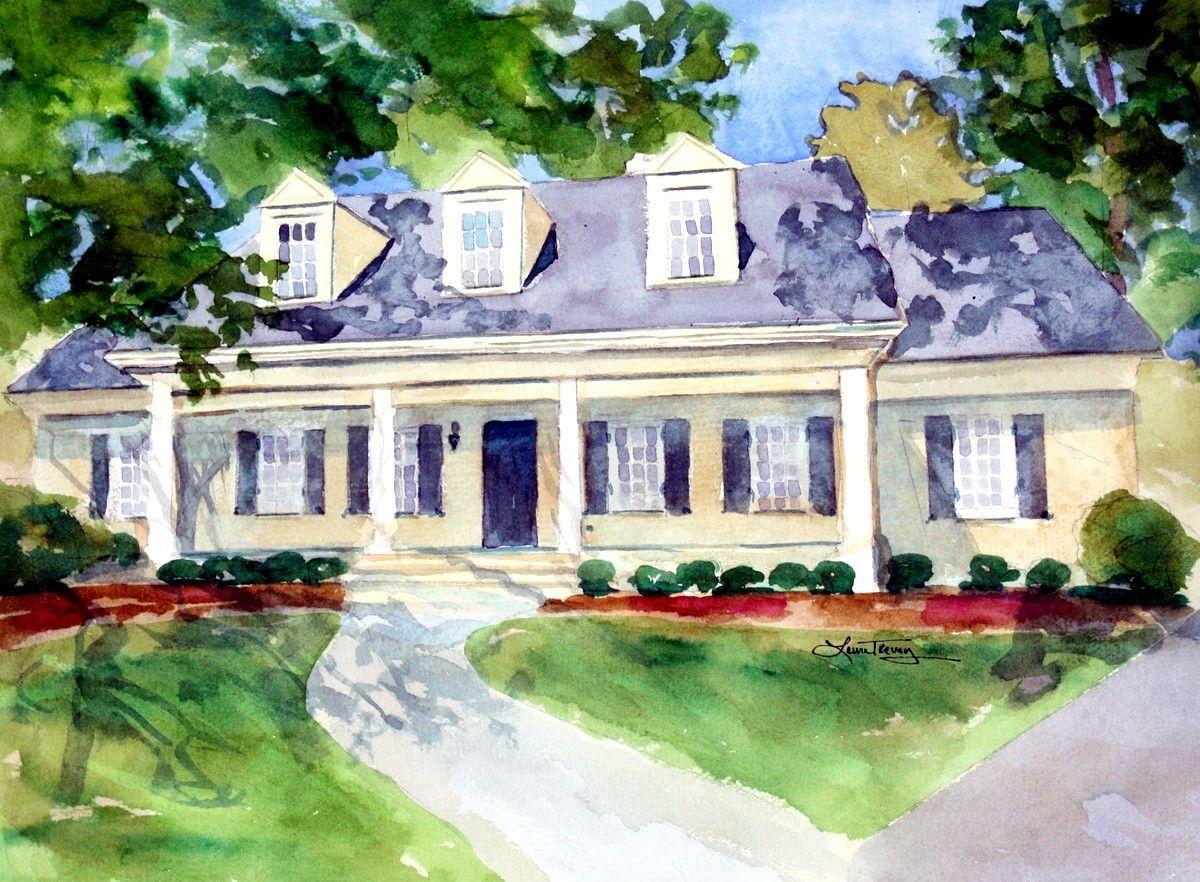 Cute idea! House Portrait - Custom Watercolor Painting. $255.00, via Etsy.