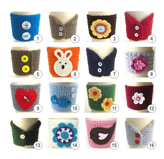 Fundas vasos | Taza tejida | Pinterest | Vasos, Tejido y Ganchillo