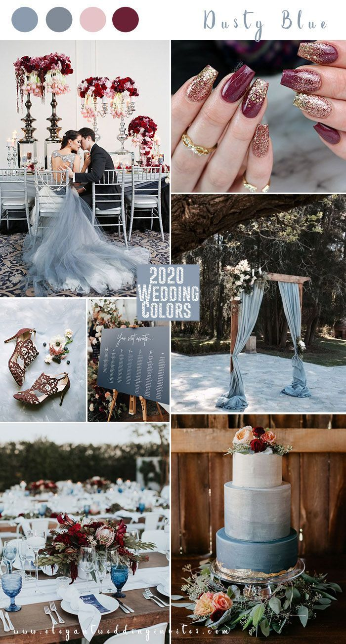 light blue,dusty blue and burgundy romantic fall w in 2020
