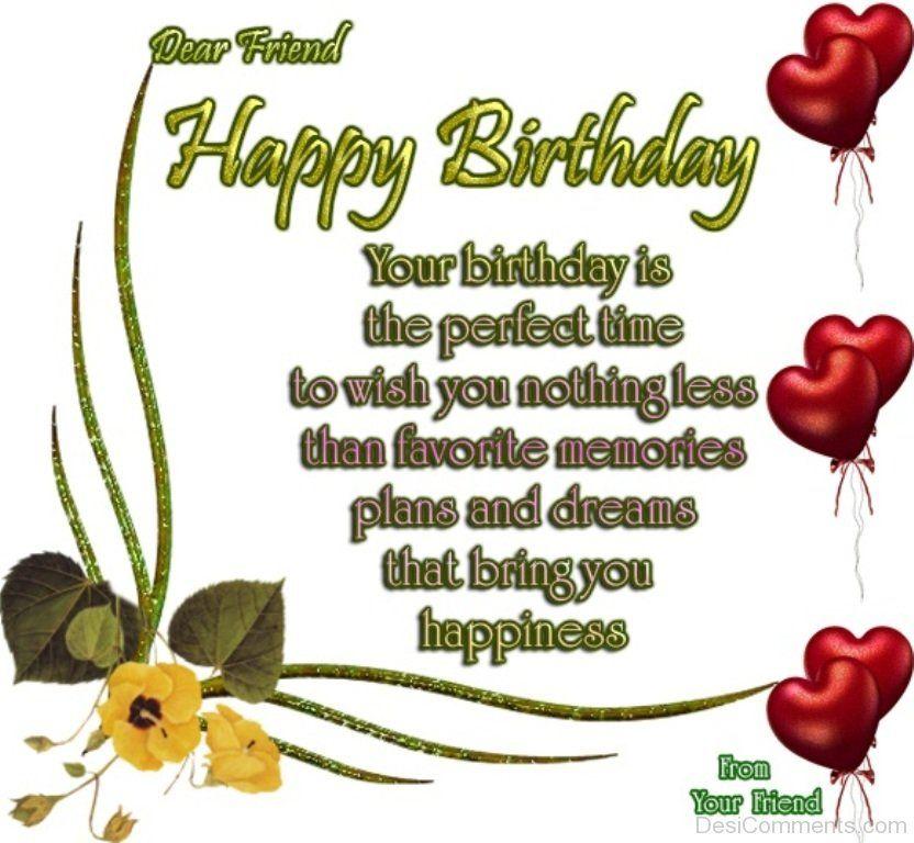 Dear Friend Happy Birthday DC13