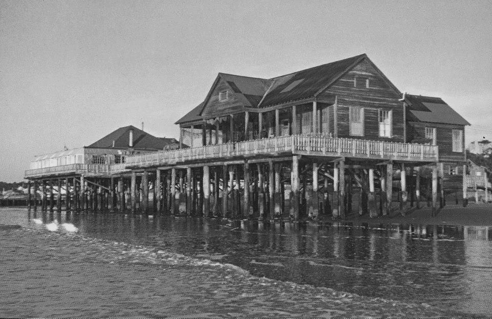 Atlantic House Restaurant At Folly Beach Destroyed By Hurricane Hugo