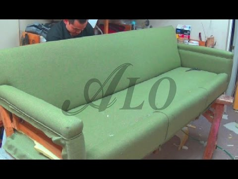 Diy How To Reupholster A Sofa Alo Upholstery Youtube Hazak