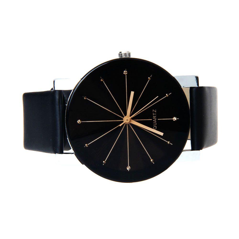 a54f711a702 2015 Relogio Feminino mulheres analógico Quartz Dial Hour Digital relógio  de couro relógio de pulso Reloj