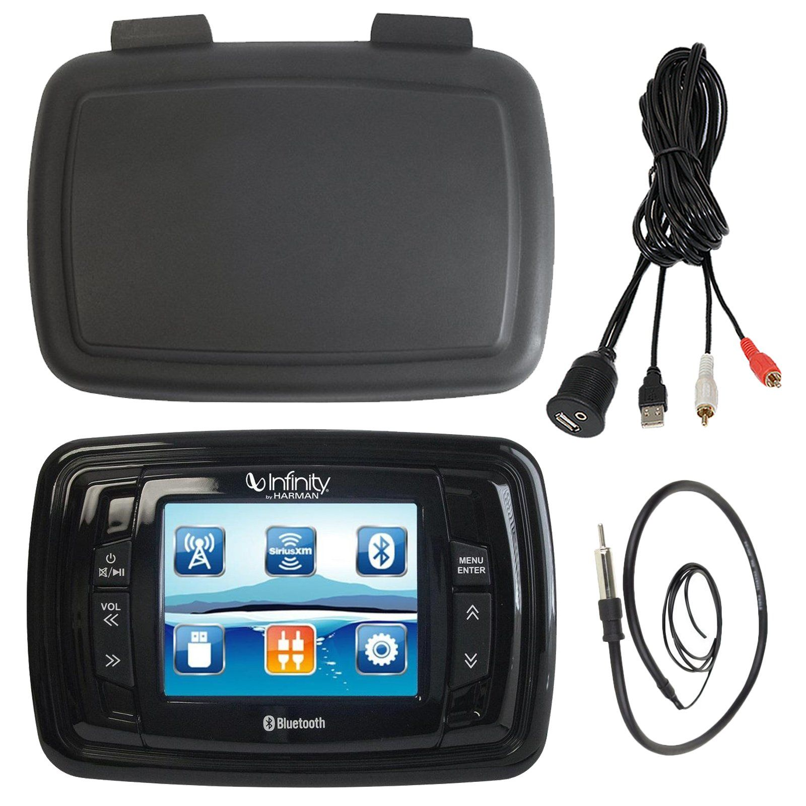 "Infinity PRV350 Marine 3.5"" TFT Display Bluetooth SiriusXM"