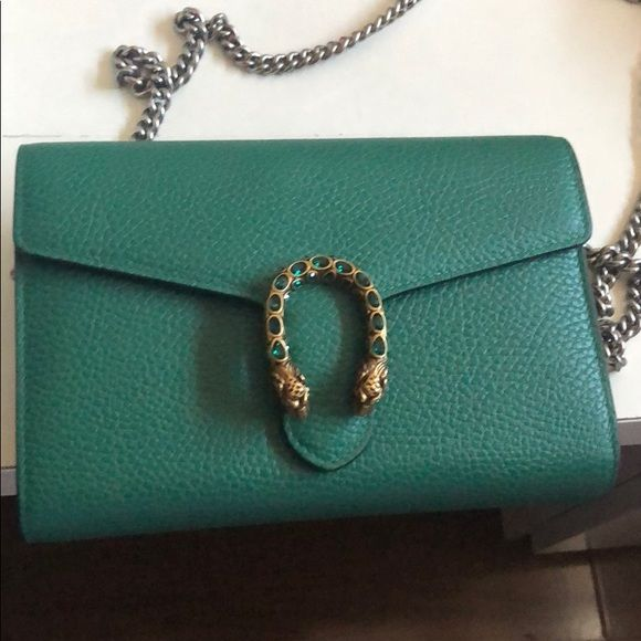 Gucci Dionysus Wallet On Chain In Green Gucci Dionysus Gucci Gucci Dyonisus Bag