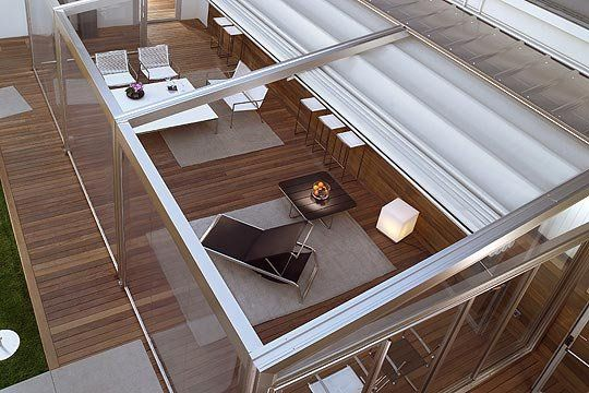 Innovative Canopy And Pergola With Retractable Roof Systems By Corradi |  MOTIQ Online   Home Decorating