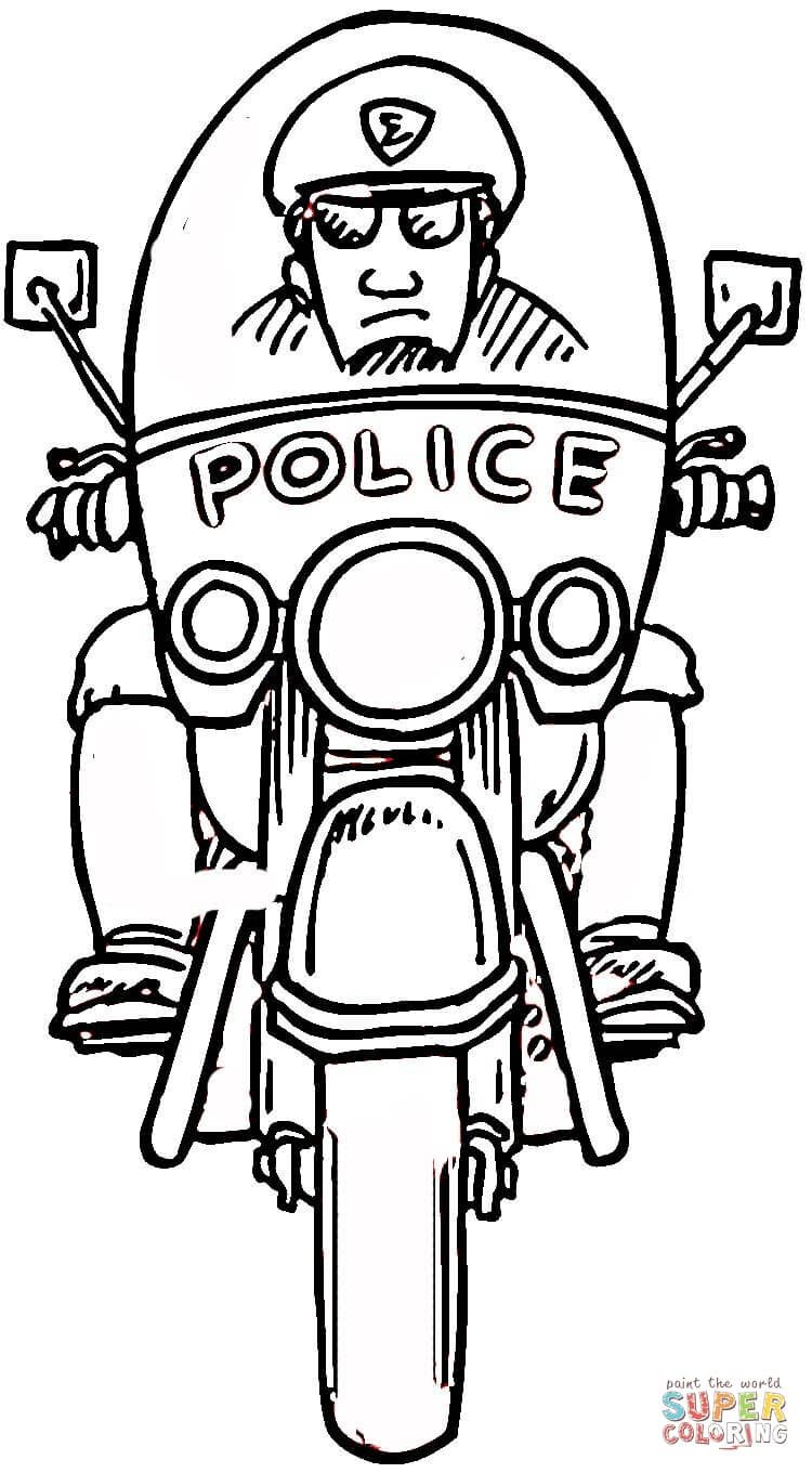 Policeman Coloring Pages To Print Police Officer Uniform ...