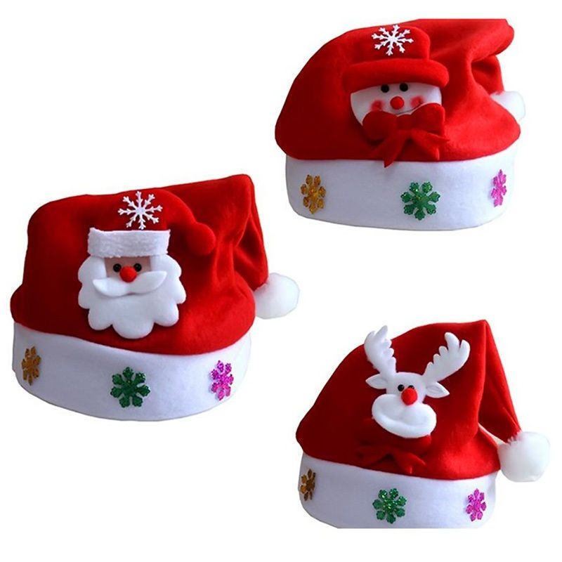 089718e539803 Toddler Kids Christmas Hat Santa Claus Reindeer Snowman Xmas Party Gifts Cap