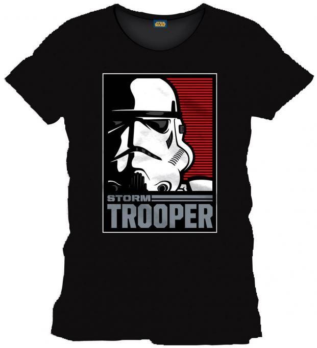 Star Wars Bonita camiseta del soldado imperial Stormtrooper con su imagen  dentro de un marco c4ea1f0dd9033