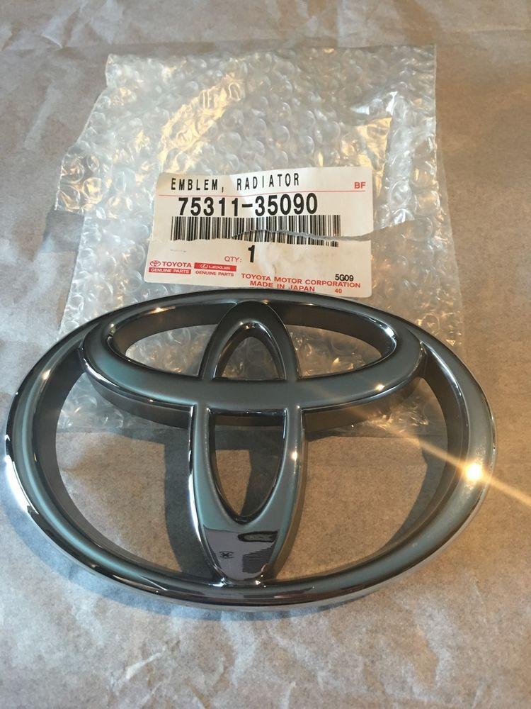 Genuine Front Grille Emblem Toyota Tacoma 1999 Oem 7531104020 Badge 35090 Toyota Toyota Tacoma Toyota Custom Trucks
