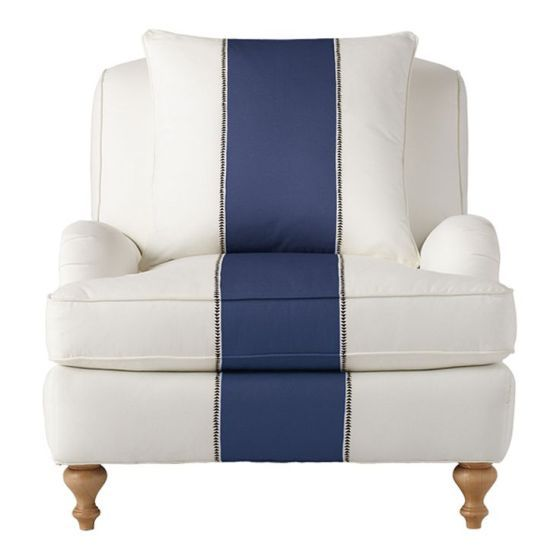 Best Nautical Chair White With Navy Blue Stripe Striped 400 x 300