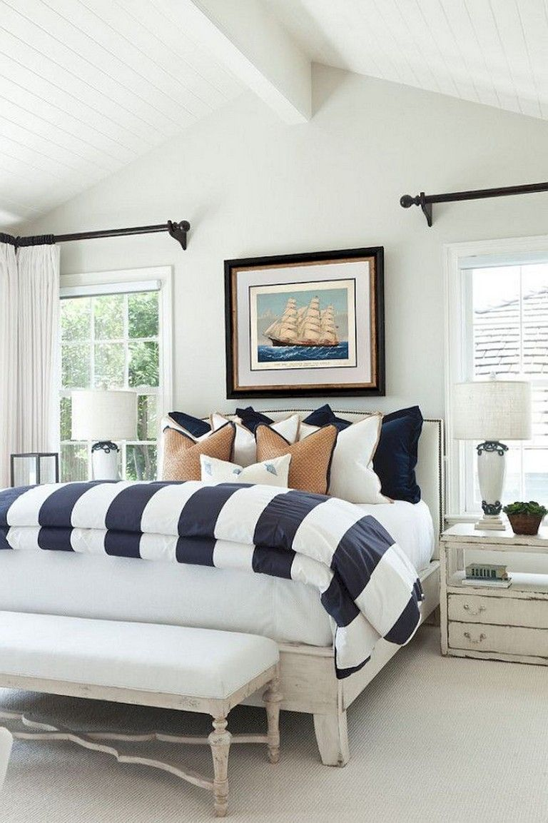 Best 37 Amazing Navy Master Bedroom Decor Ideas Navy Master 400 x 300