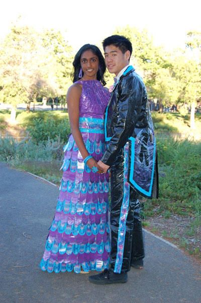 Prom Dress & Tux Made Out Of Duct Tape @smosh | Ducktape | Pinterest ...