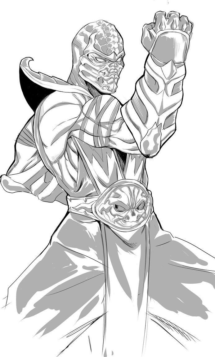 Scorpion by DJOK3 Scorpion mortal kombat, Sketches