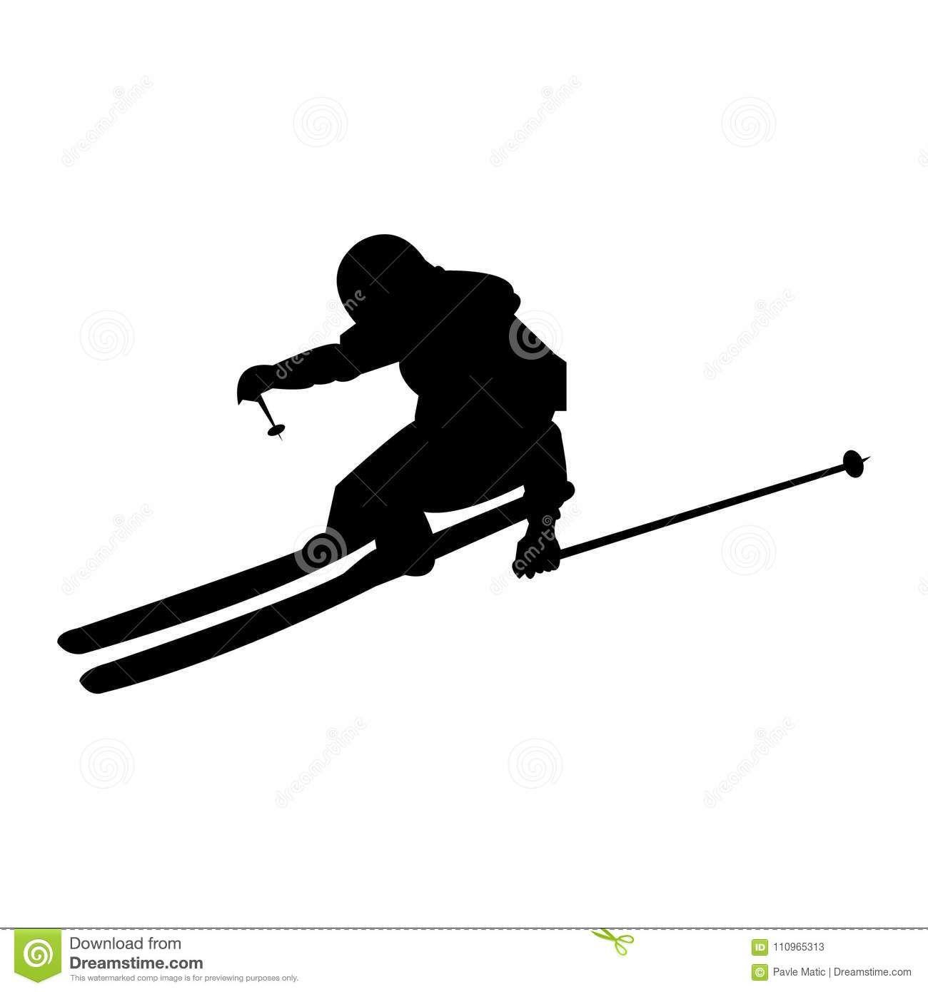 Simple Skier Skiing Down The Slopes Stock Illustration Illustration Of Season Activity 110965313 Skier Skiing Sophisticated Art
