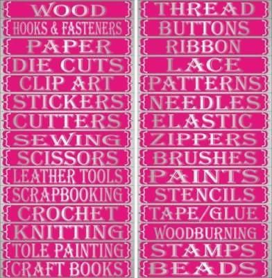 Details About Craft Labels For Craft Drawers All Crafts Craft
