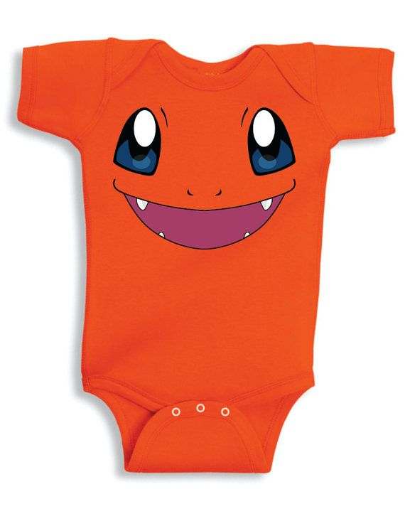 248656f59 Inspired by Charmander face Pokemon Onesie new born to 24 months sizes very  cute baby youth