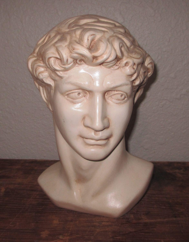 Cast Ceramic Sculpture of David Bust of David