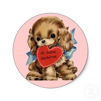 Image detail for -Vintage Valentine Puppy Card for Kids from Zazzle.com