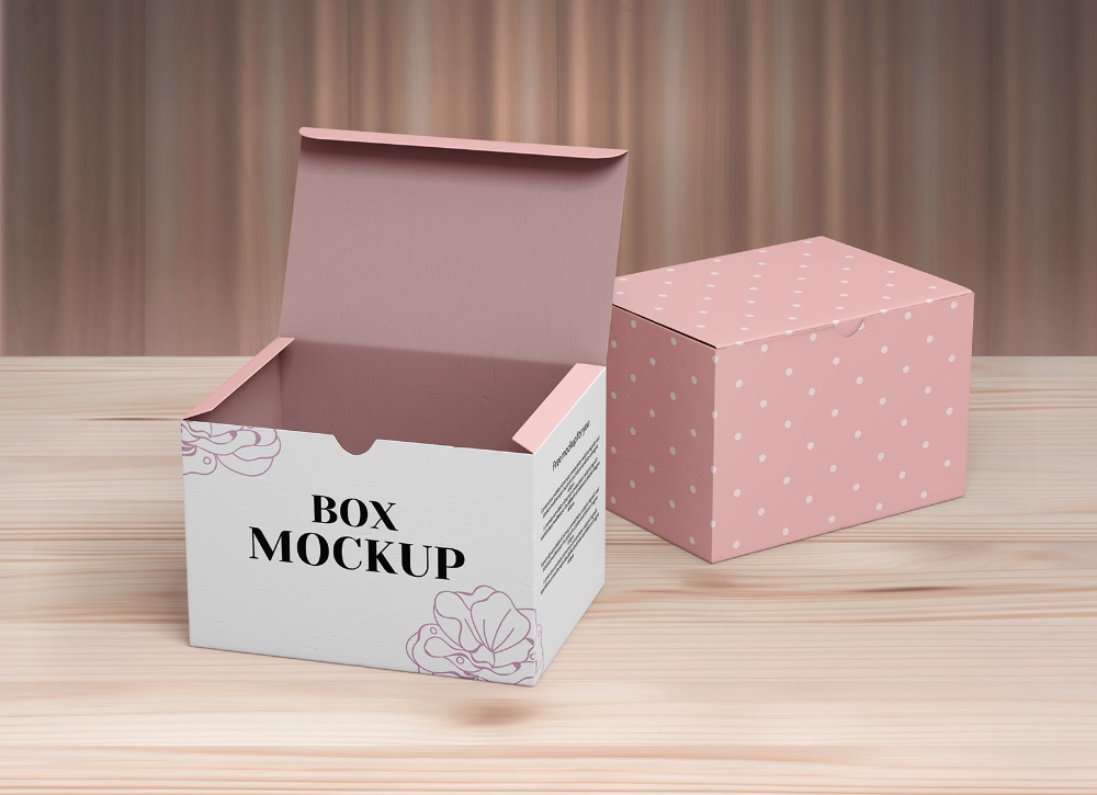 8110+ Hanging Box Mockup Easy to Edit