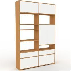 Photo of Regalsystem Eiche – Regalsystem: Schubladen in Weiß & Türen in Weiß – Hochwertige Materialien – 152