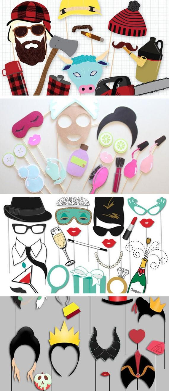 wedding photo booth props printable%0A Let these rad photo booth props inspire your next theme party