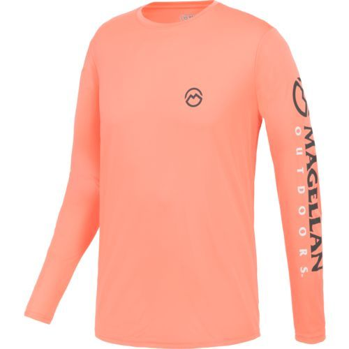 439b55539c9d Magellan Outdoors Men s Casting Crew Moisture Management Long Sleeve T-shirt