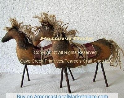 Primitive Horse Pattern | Horse Patterns | Animal Sewing Patterns | Cave Creek Primitives Folkart Patterns #horsepattern