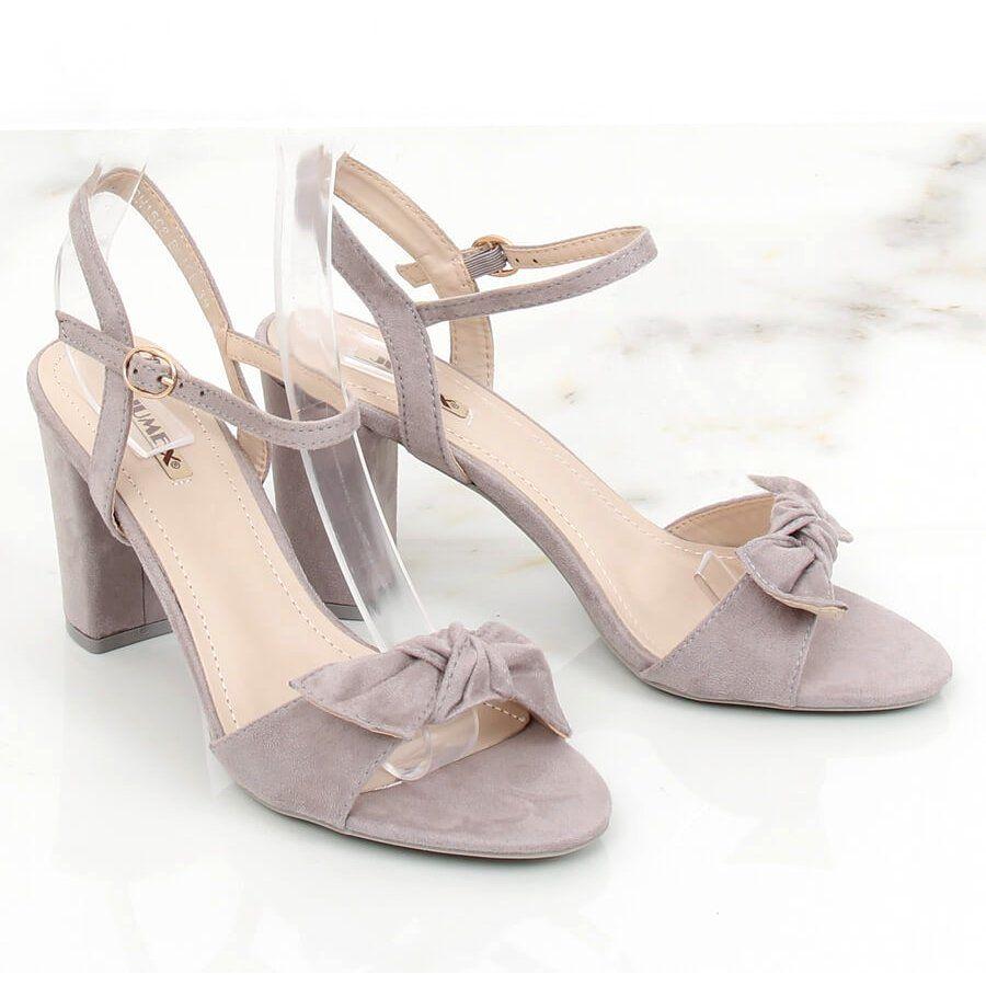 Sandalki Na Slupku Szare Gh1508 Grey Wedding Shoe Shoes Sandals