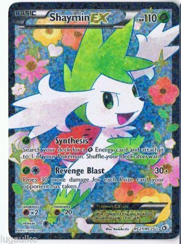 Pokemon Card Legendary Treasures Rare Holo FULL ART Shaymin EX RC21/RC25