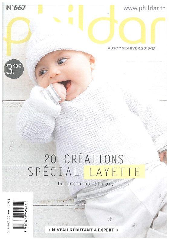 024cc05f93161 N° 667 Mini catalogue Phildar layette 2017 du préma au 24 mois 20 modèles  créations spécial layette
