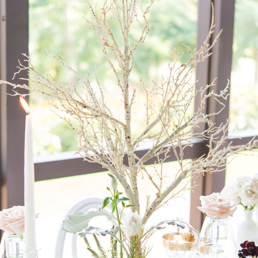 Artificial Birch Branch Centerpiece | Branch centerpieces, Birch ...