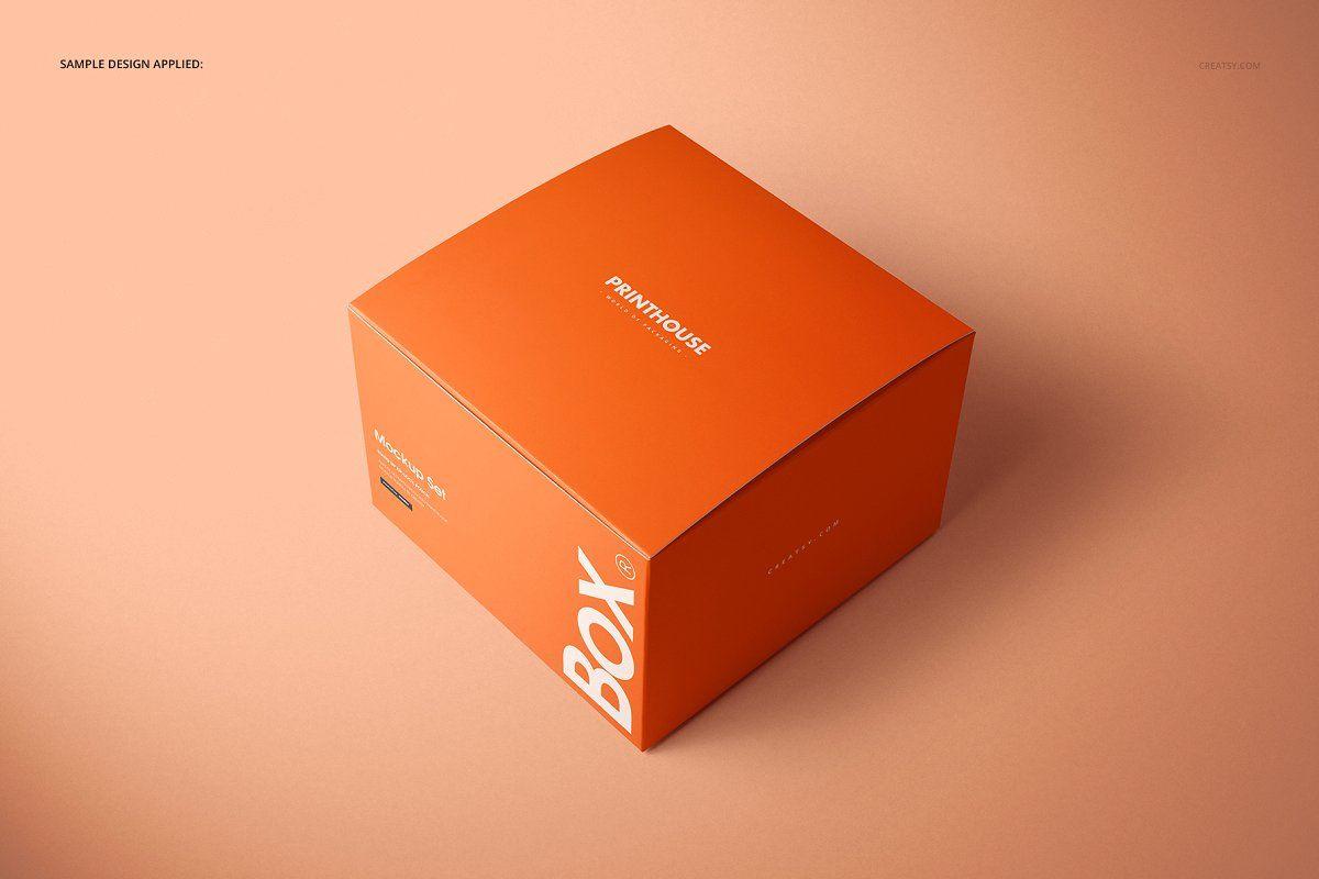 Download Chipboard Gloss Gift Box Mockup Set Box Mockup Gift Box Creative Market