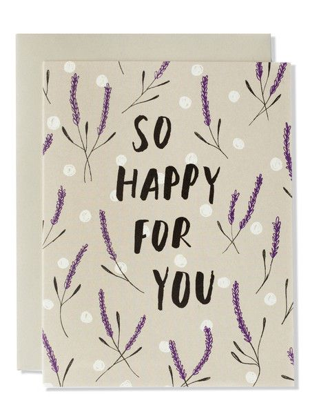 So Happy For You Modern Floral Card | Sycamore Street Press